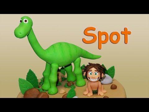 The Good Dinosaur (Cake Topper) Part 2: Spot / Un Gran Dinosaurio para decorar tortas Parte 2: Spot - YouTube