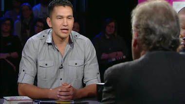 Wab Kinew and Stephen Lewis debate torture in The Orenda