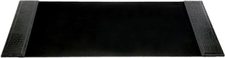 Crocodile Embossed Leather 34x20 Desk Pad with Side Rails P2201 by Decasso