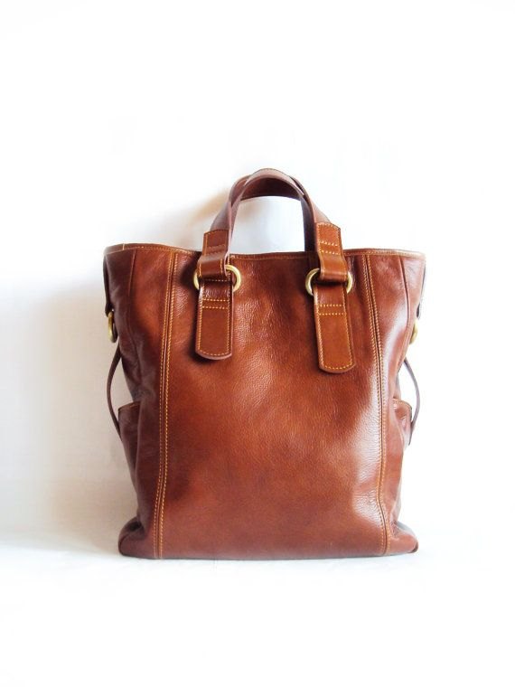 Brown Leather Tote Bag, Shoulder Bag, Messenger Bag, Shopping Bag, Carryall Bag - Extra Large Handbag on Etsy, $180.00