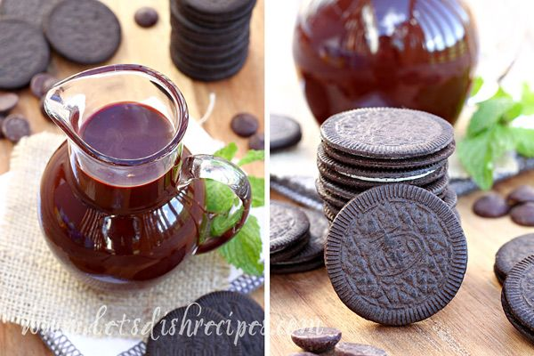 OREO Thins with Chocolate Mint Sauce | Let's Dish Recipes