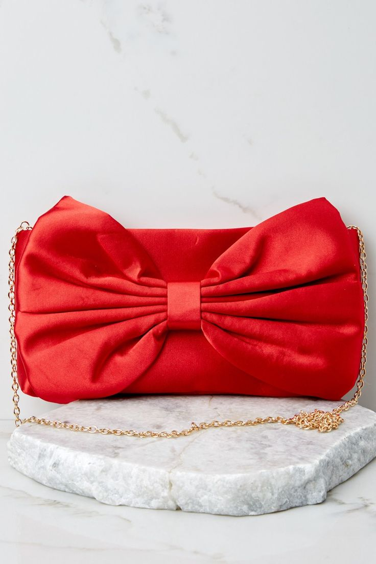 Leather Statement Clutch - red petals by VIDA VIDA aKWPMa