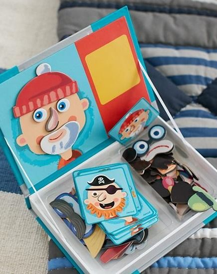 Make men and women of a million silly faces with our Magnetic Crazy Face Game. Each set features twelve different stock faces to choose from and dozens of face accessories, all magnetic and easy to store.