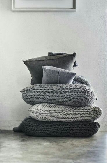 Knitted pillows..