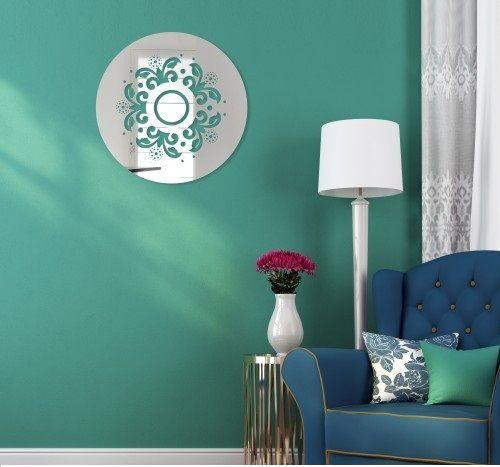 Okrągłe lustro dekoracyjne z akrylu
