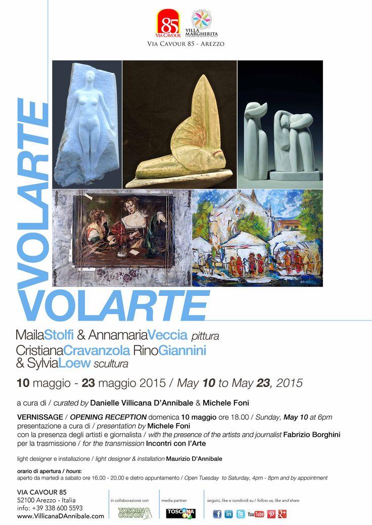 VOLARTE MAILA STOLFI & ANNAMARIA VECCIA painting CRISTIANA CRAVANZOLA, RINO GIANNINI & SYLVIA LOEW sculpture  www.VillicanaDAnnibale.com