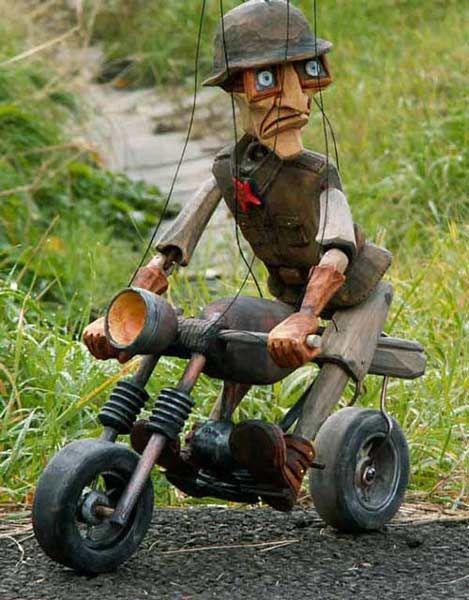 Rocker ,  marionette puppe