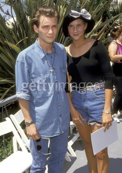 Christian Slater and Monica Seles