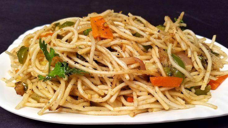 Veg Noodles Recipe In Telugu | How to make Veg Noodles | Indian Street Food Vegetable Noodles