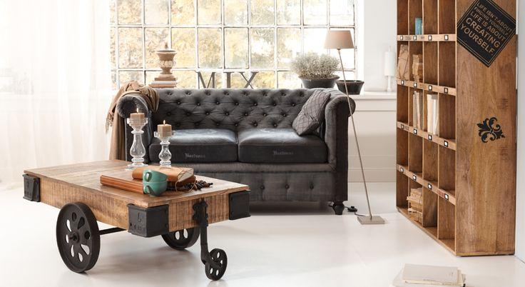 90 best wohnen im industriestil images on pinterest homes loft and lofts. Black Bedroom Furniture Sets. Home Design Ideas