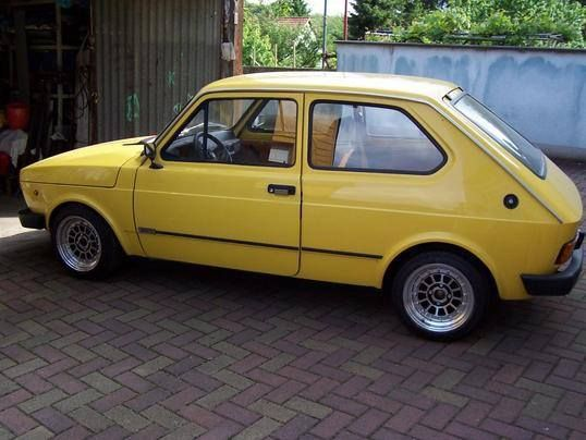 Fiat 127 - Yellow Car