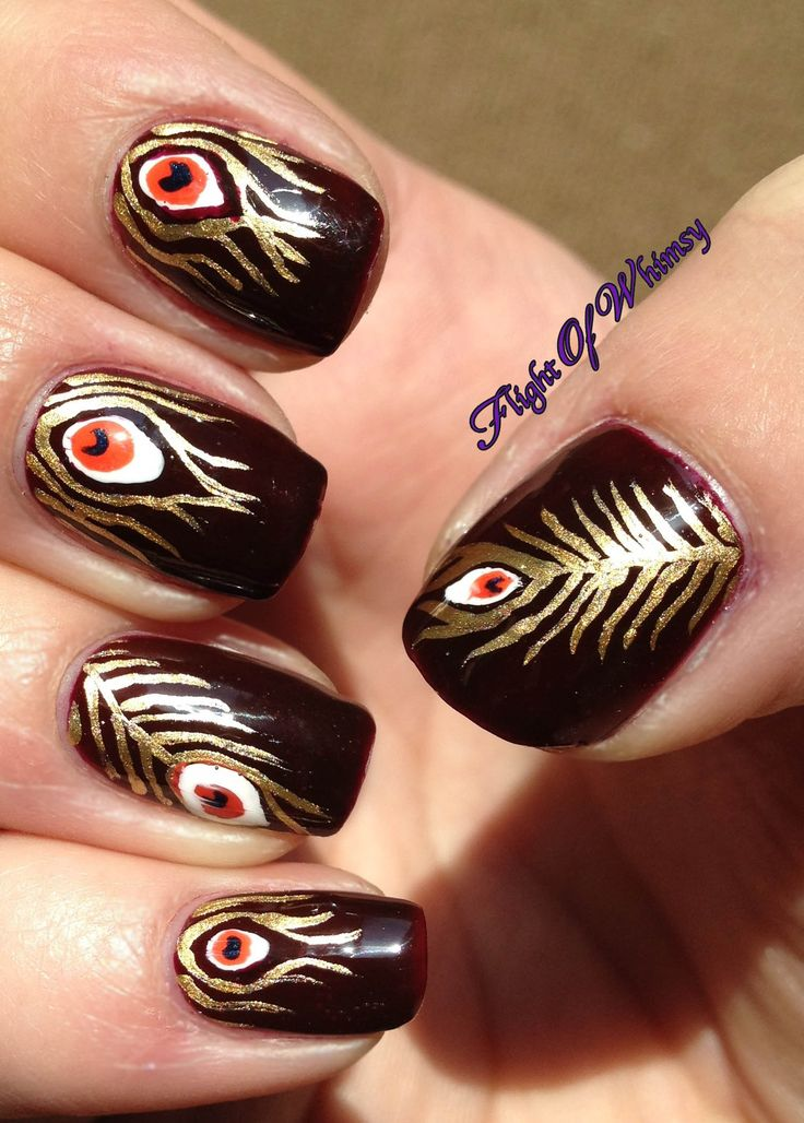 90 best Fantastic Feather Nail Art images on Pinterest | Feather ...