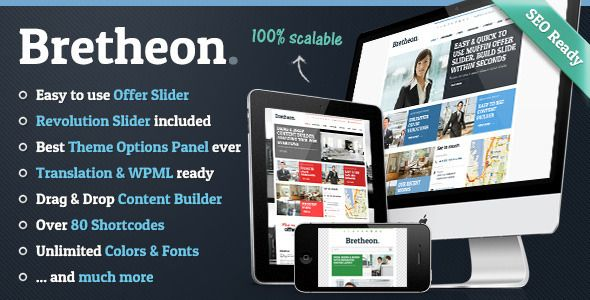 With Bretheon you get totally new & fresh solution for your business. This theme can be used for each kind of page. You can use this product with boxed layout or full width. But it`s not everything. You can also choose best op...