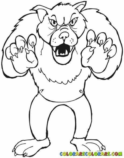 128 best emozioni images on pinterest - Halloween Werewolf Coloring Pages