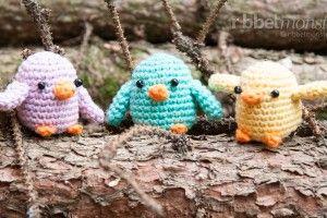 Amigurumi Anleitung - kleine Vögel häkeln - kostenlose Häkelanleitung