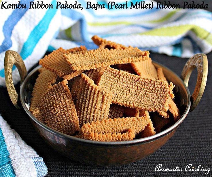 Kambu Ribbon Pakoda, Bajra Pakoda, Pearl Millet Pakoda, Millet Snacks, Diwali Snacks