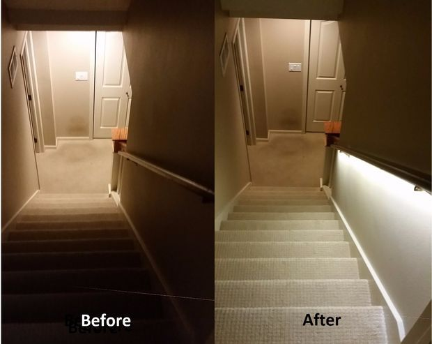 Luxury Stair Lighting Solution With LED Strips Treppen