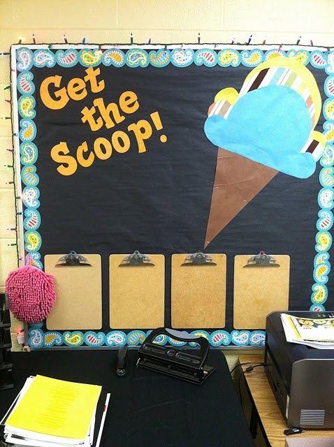 Get The Scoop Ice Cream Bulletin Board Idea