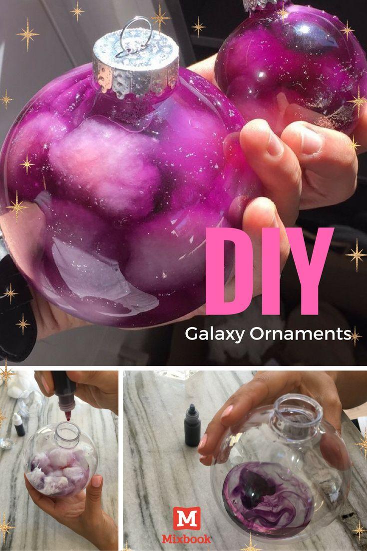 DIY Galaxy Ornament Craft