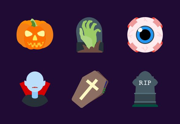 freebie halloween icon set