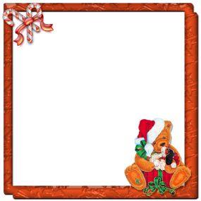 Marco naranja con osito navide o marcos transparentes para colocar tus fotos marcos marcos - Marcos transparentes ...