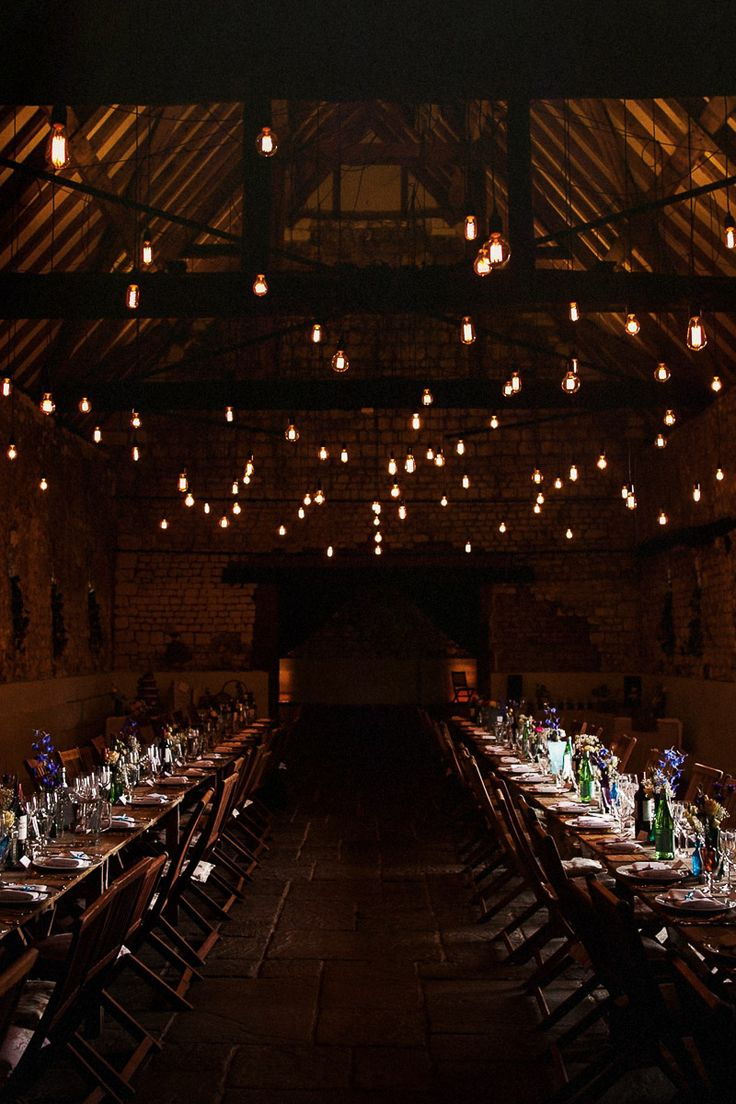 Just wow. Credit: Matt Parry Photography | Lighting by Oakwood Events | Venue Monks Barn Hurley