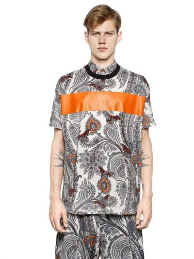 GIVENCHY - COLUMBIAN FIT PAISLEY COTTON T-SHIRT - LUISAVIAROMA - LUXURY SHOPPING WORLDWIDE SHIPPING - FLORENCE
