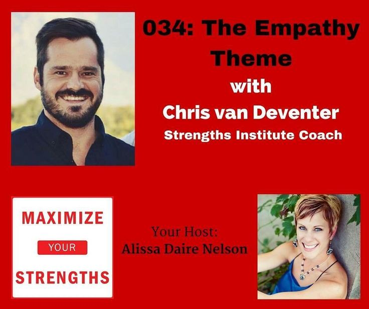 Empathy.... you probably don't don't have a wishy-washy view of this strength theme. Listen to today's episode with Chris van Deventer! You'll understand it differently I promise!  http://ift.tt/2blf4qG  #strengths #podcast #empathy #coach #maximizeyourstrengths #success