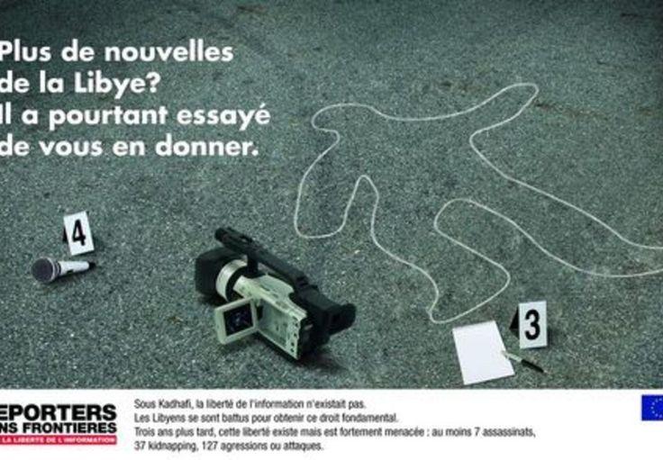 Nouvelle campagne Reporters Sans Frontières