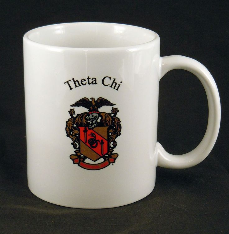 Theta Chi Fraternity Name and Crest Coffee Mug NEW