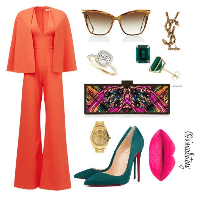 """Real Housewives of Park Avenue III"" by visualxtasy on Polyvore featuring Alexis, HEATHER OFFORD, Christian Louboutin, Rolex, Allurez, Gioelli Designs, Dita, Yves Saint Laurent, women's clothing and women's fashion"