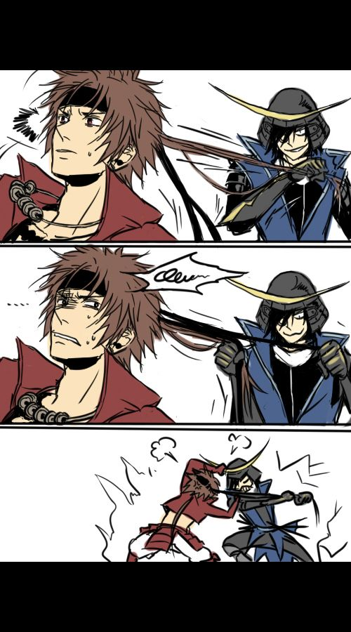 Tags: Anime, Sengoku Basara, Date Masamune (Sengoku Basara), Sanada Yukimura (Sengoku Basara), Comic
