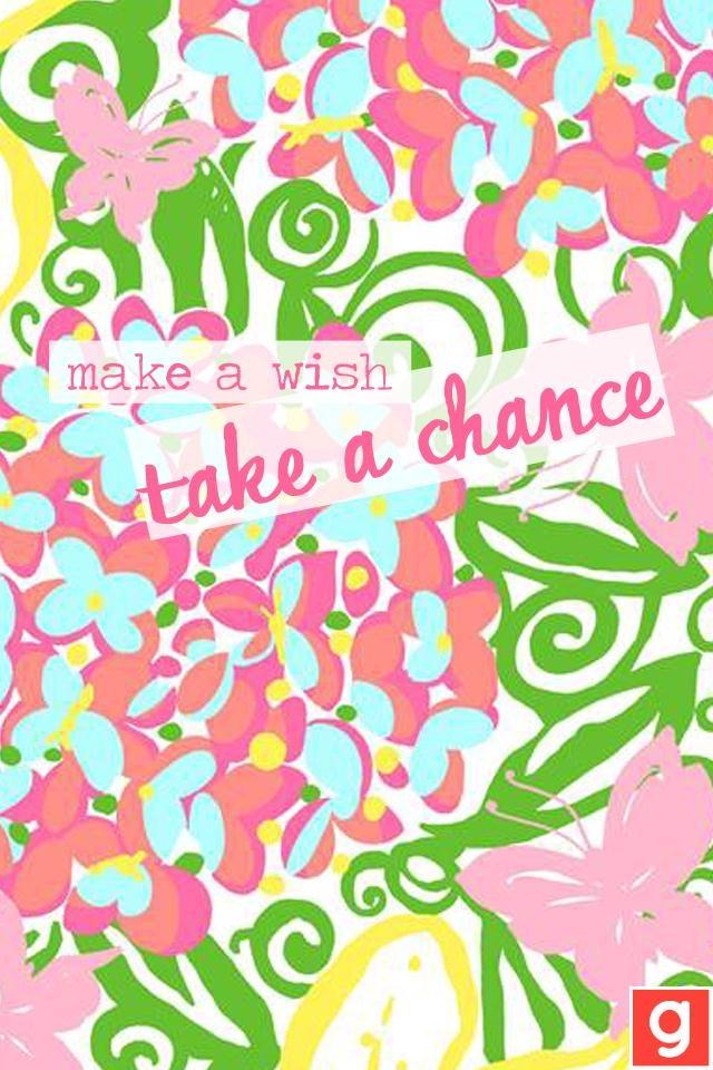 'Make a wish take a chance'