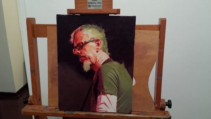 Commission made for a great friend of mine, Dominic Smith. Portrait painting. Oil on linen.