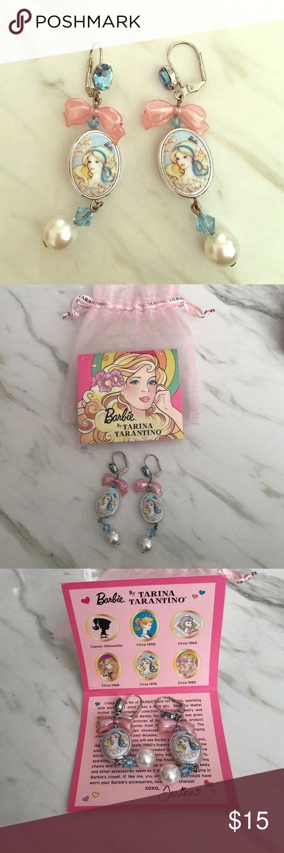Barbie earrings by Tarina Tarantino Adorable Barbie earrings I never wear anymore! I still have the bag and card it comes with. Tarina Tarantino Jewelry Earrings
