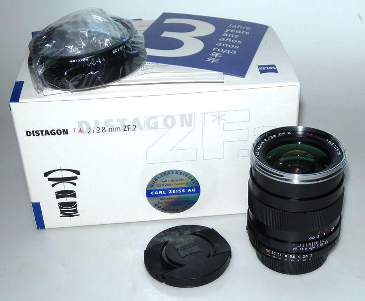 NIKON 28/2 DISTAGON T ZF.2 CARL ZEISS + PARE-SOLEIL, NOTICE NEUF BOITE NIKON TPP6 : vente d'appareils photo de collection et d'occasion : french-camera.fr