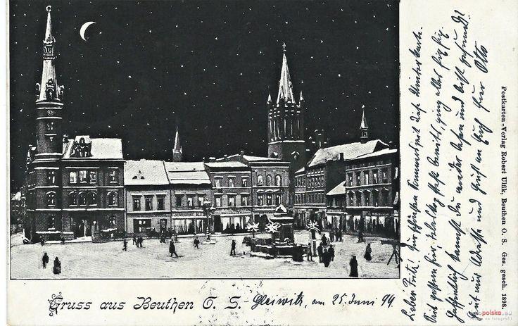 Rynek (Ring / Marktplatz / pl. Maciejewskiej), Bytom - 1899 rok, stare zdjęcia