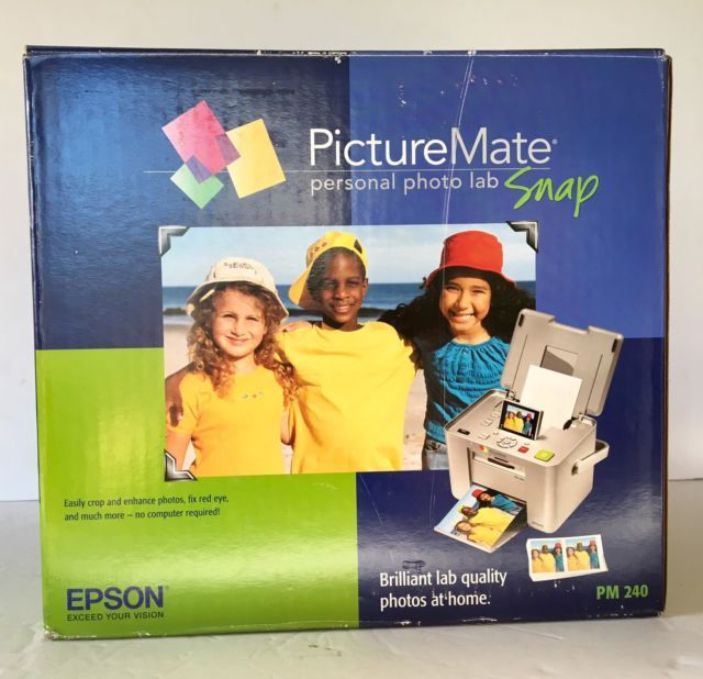 EPSON PictureMate Snap PM 240 Digital Photo Printer 4 x 6    eBay