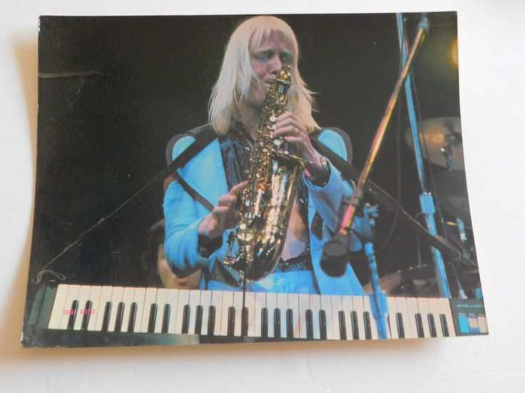 """Original 1973 The Edgar Winter Group Concert Poster Photo Card Photographed Lynn Goldsmith 8 1/2"""" x 11"""" NOS Artwork Saxophone Free Ride Tour by CompulsiveNeurons on Etsy"""