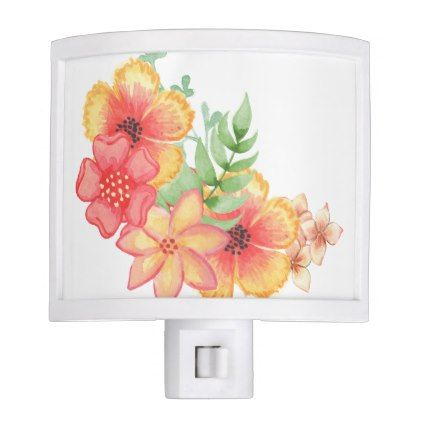 Orange and Pink Night Light - light gifts template style unique special diy
