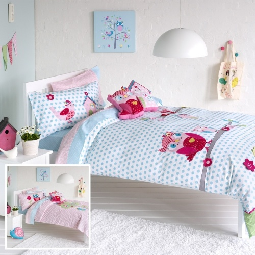 adairs bedroom quilt covers coverlets audrey owl