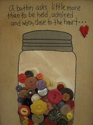Love this button jar on journal page with real buttons --- very nice!