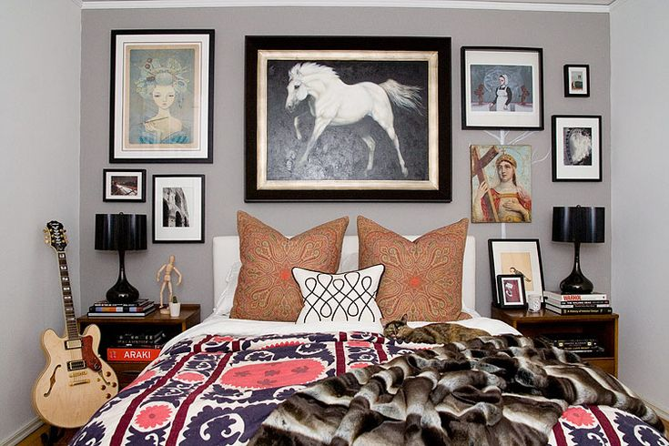 eclectic bedroom by amber interiors. looks effortless. i love her style.