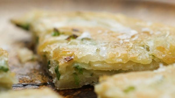 Spring Onion Pancakes With Ginger Dipping Sauce ~ Recipe