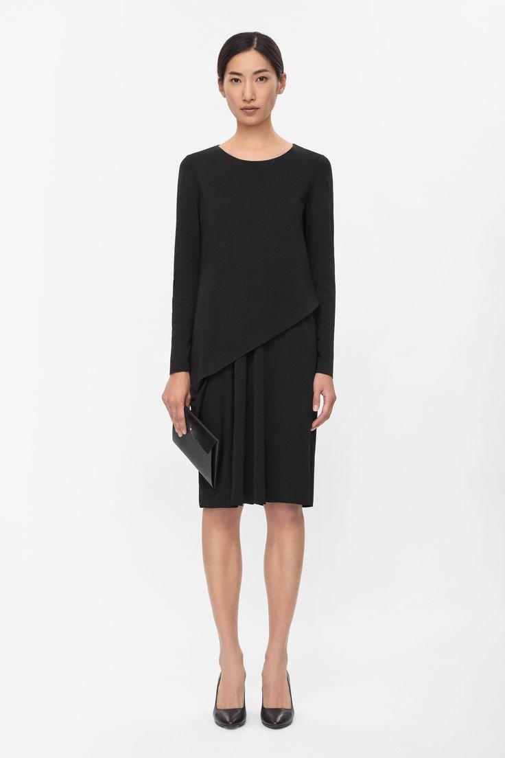 Asymmetric layered dress