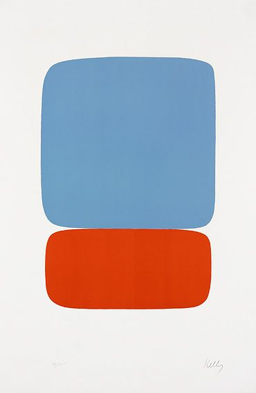 Ellsworth Kelly, Blue over Orange. Who says you can't have fine art that's sports related? #gogators