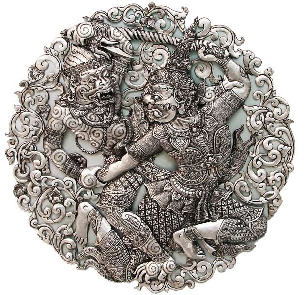   gold and silver   Thai Wuai Lai silverware