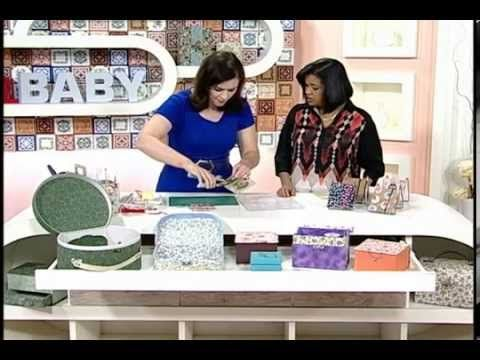 Sabor de Vida Artesanatos   Porta Chaves de Cartonagem por Heloísa Gimenes - 21 de Setembro de 2014 - YouTube