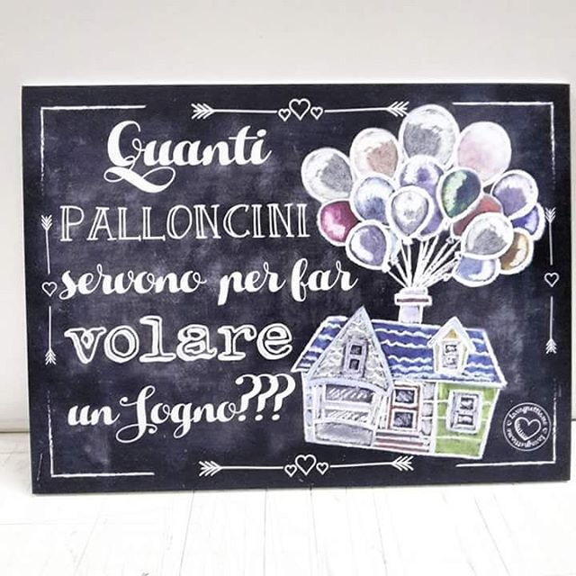Uuuuuna splendida giornaaaaata! #dreams #home #baloon #baloons #sweet #lavagnettiamo #lavagnettiamo@gmail.com #chalkboardart #art #chalkboard #lavagna #lavagnettepersonalizzate #lavagnetta #chalk #igersitalia #igers #amore #handmade #sogno #casa #amore #love