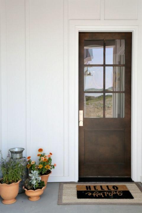 Modern Farmhouse Back Door Magleby Communities Doors Hardware